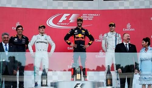 Formula-1: Риккардо одержал победу Гран-при Азербайджана, Квят сошёл из-за технических сложностей