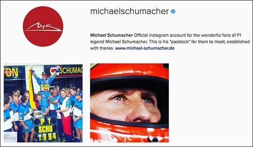 Михаэль Шумахер завел аккаунт винстаграме