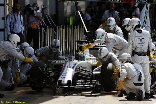 В Williams вновь провели самый быстрый пит-стоп
